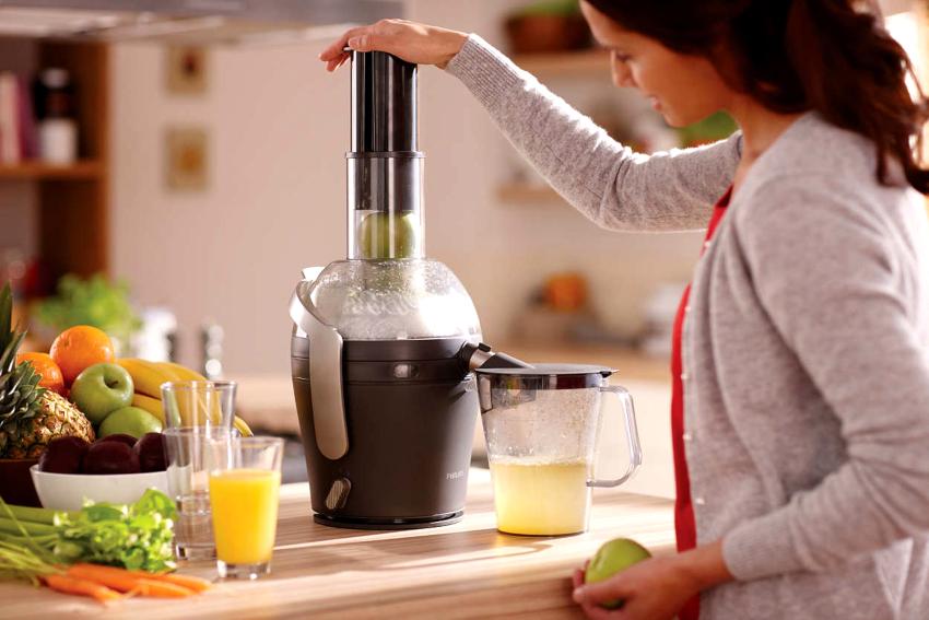 Мощные электросоковыжималки способны справиться не только с цитрусами, но и более твердыми фруктами