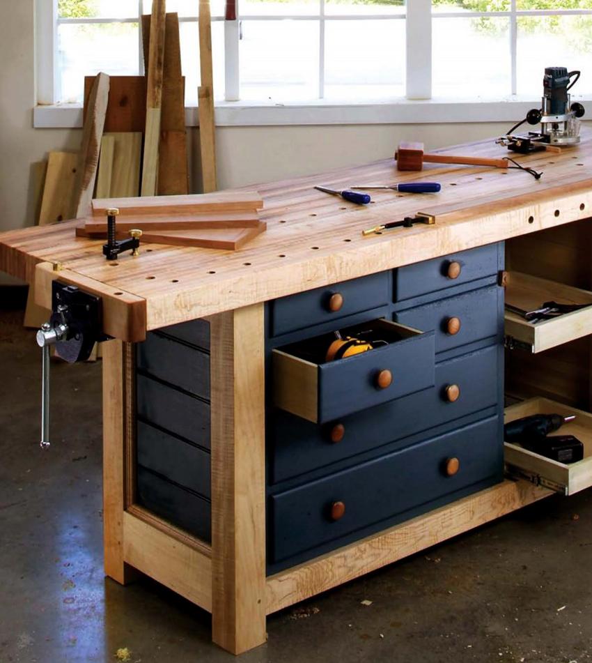 Столярный верстак – это стол, на котором мастер обрабатывает изделия из дерева