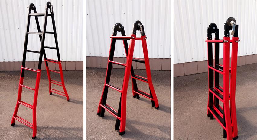 Телескопические лестницы «Практика 4х4» производятся из высококачественных материалов