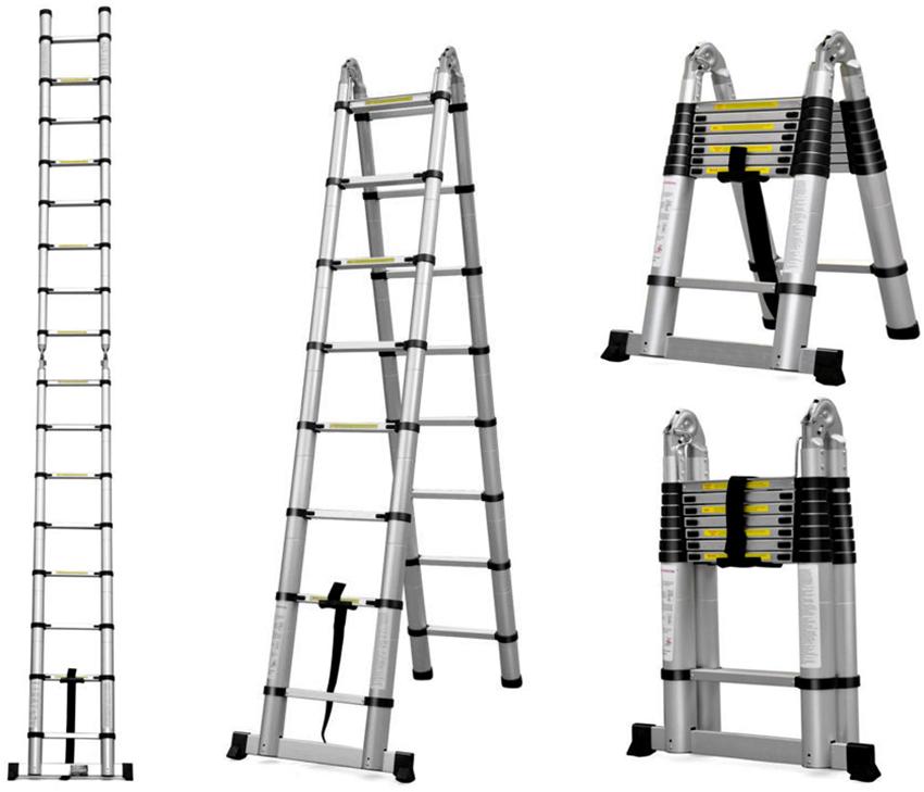 Стремянки Werk LC5416B оснащены удобными ступенями с рифленой поверхностью