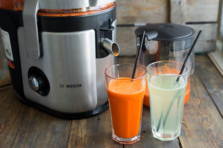 Соковыжималка Bоsch MES4010 Vitа Juice4 оснащена емкостью для сока на 1,5 л