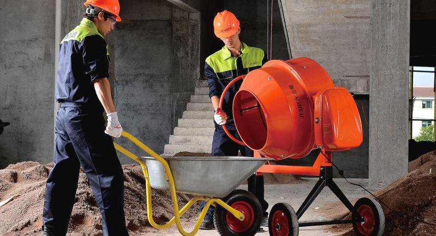 Электрическая бетономешалка: рекомендации по выбору и эксплуатации