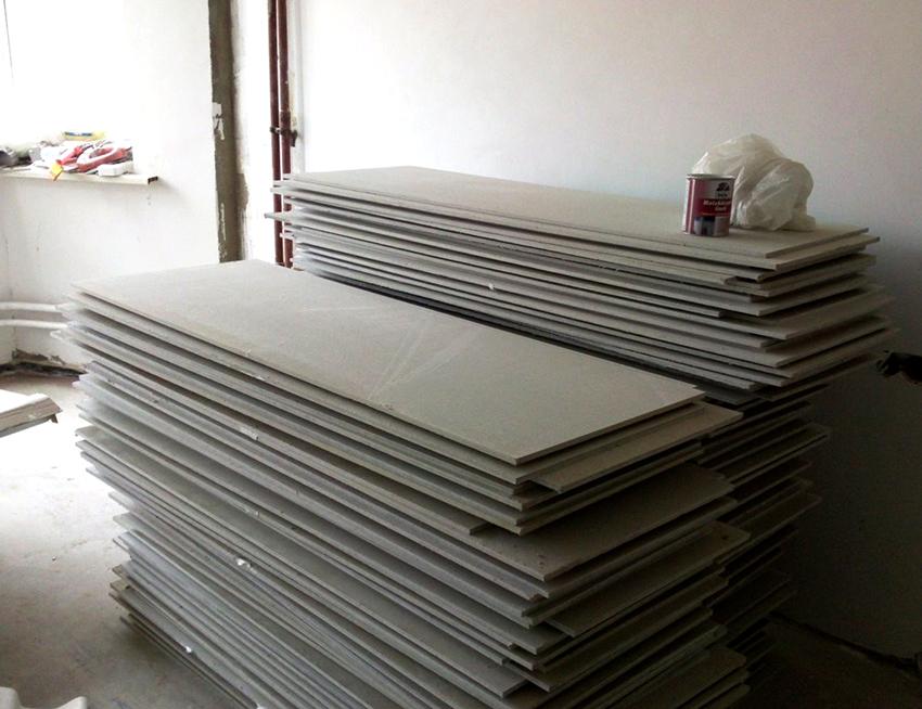 Толщина ГВЛ-листов может варьироваться в пределах 12,5-20 мм
