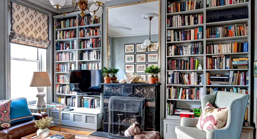 Книжные шкафы для домашней библиотеки: стильные и практичные варианты