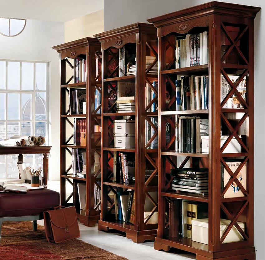 Открытые книжные шкафы пользуются большей популярностью, чем закрытые