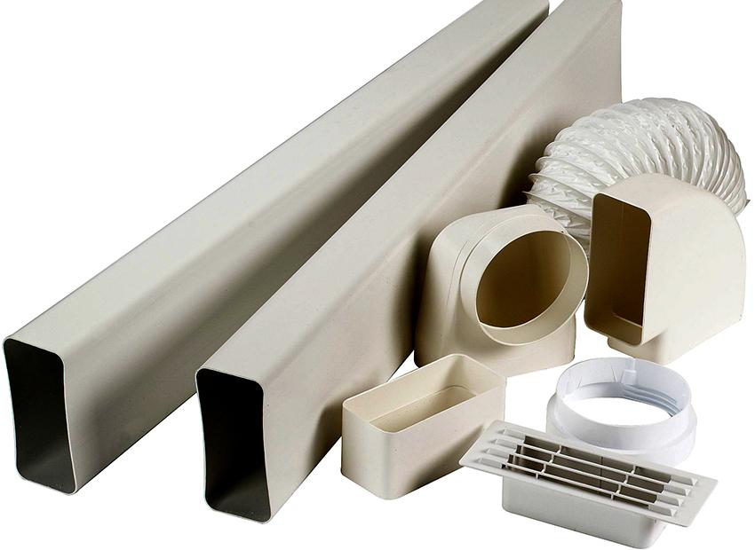 Трубы для вентиляции могут быть круглые, квадратные и прямоугольные