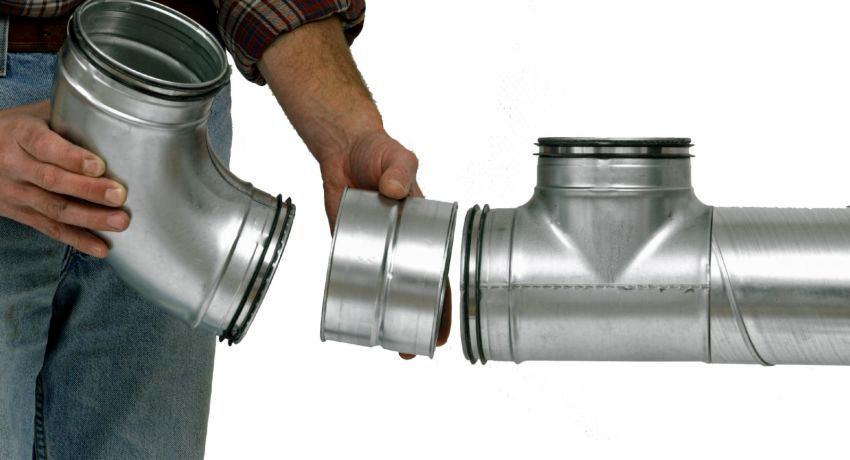 Металлические вентиляционные трубы легко устанавливать
