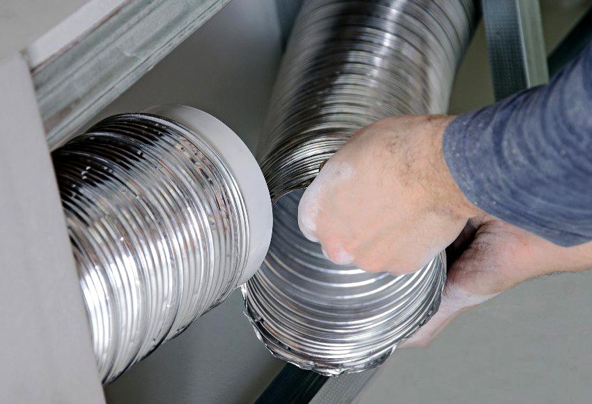 Алюминиевые гофры - самый популярный вариант для монтажа