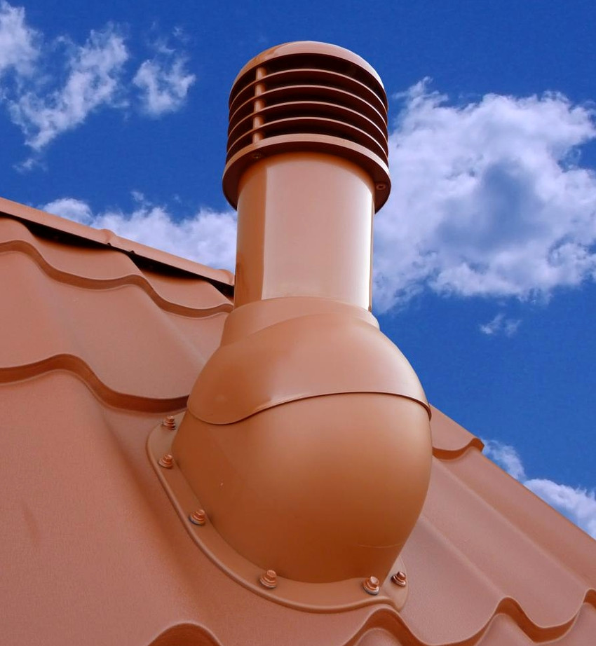 Купол, шар или другая конструкция, которая установлена на крыше и является дефлектором