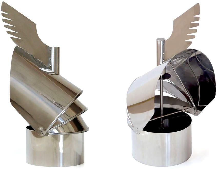 Продуктивность флюгера обеспечивается лопастями, которые всегда разворачивают устройство «спиной» к ветру