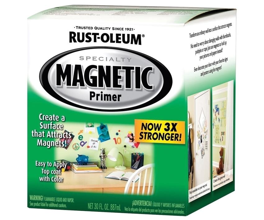 Бренд Rust-Oleum выпускает графитные краски с добавлением магнитного порошка