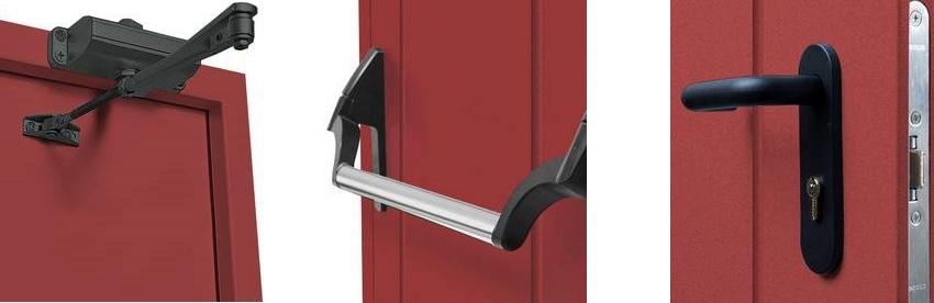 Составляющие элементы системы экстренного открывания дверей