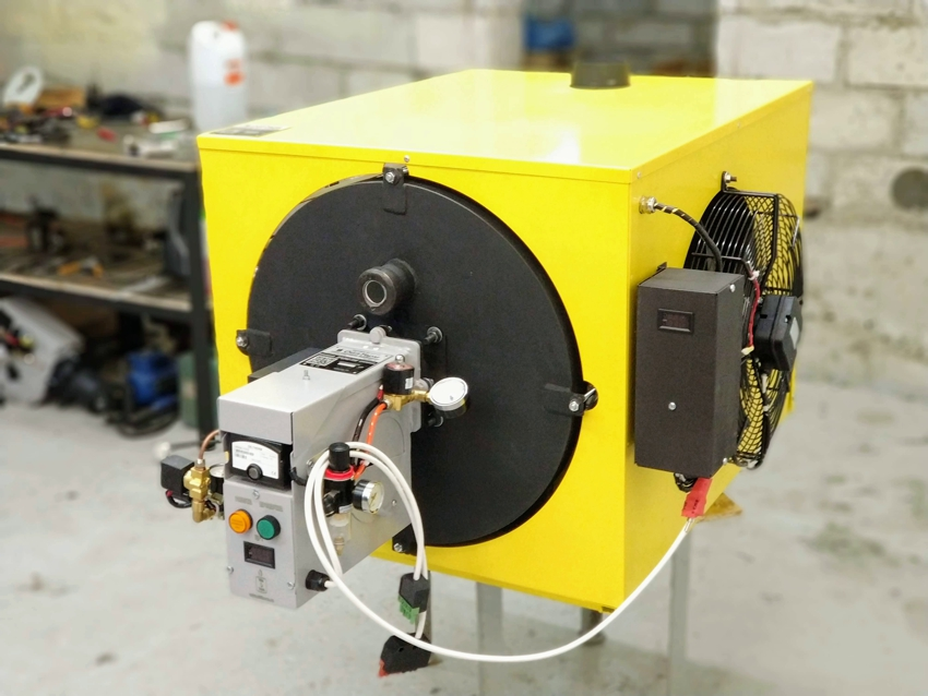 Электрический калорифер с вентилятором