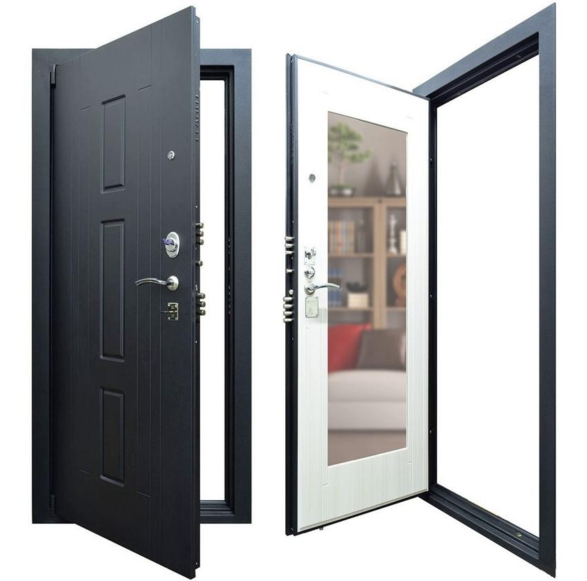 Накладка для входной двери с зеркалом с внутренней стороны