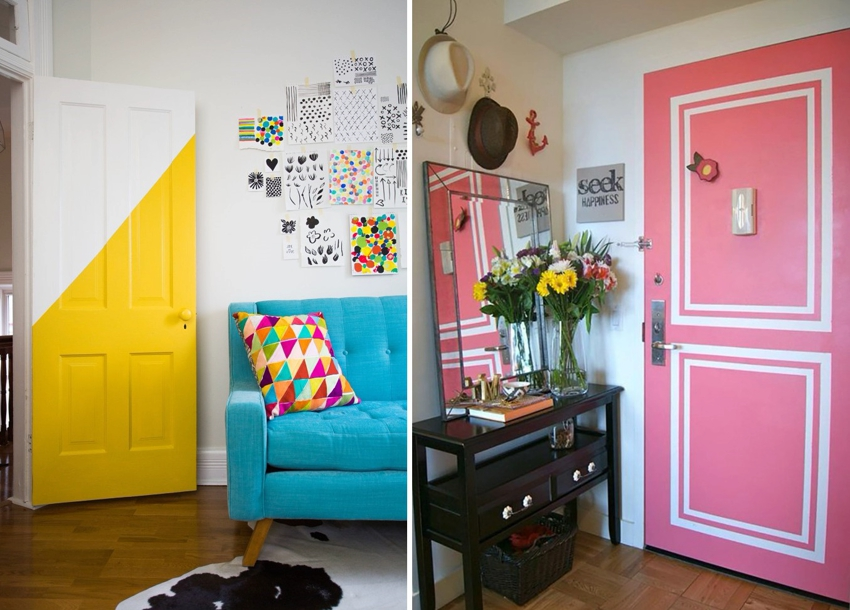 Примеры обновления дверей с помощью окрашивания
