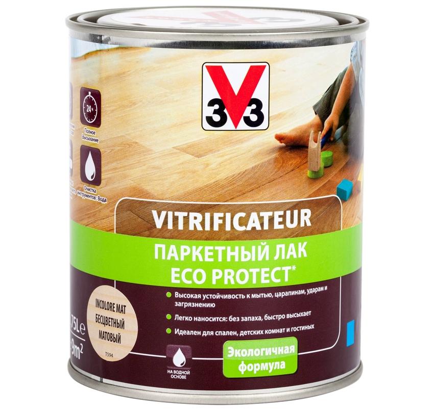 Эко лак из полиуретана и акрила 3V3 Vitrificateur Protection