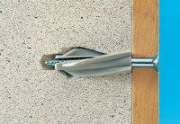 Применение полимерного дюбеля для стены из газобетона