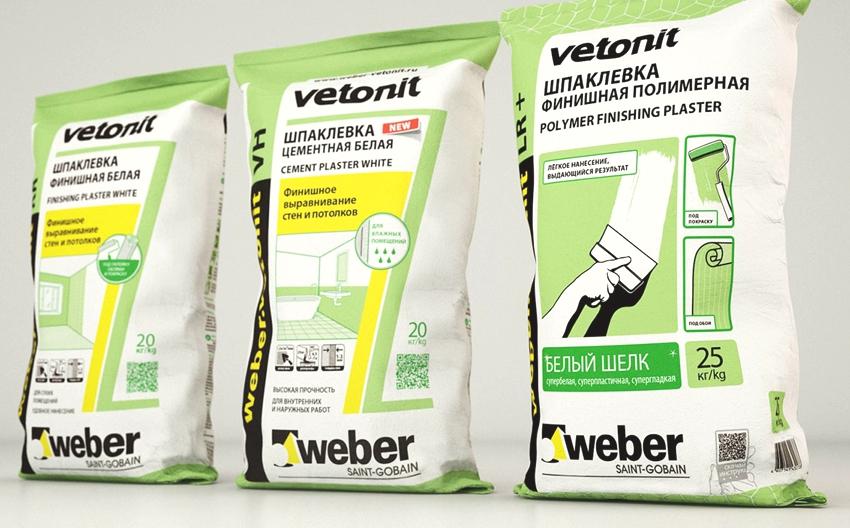 Расход шпаклевки Ветонит составляет 1,2 кг на кв.м