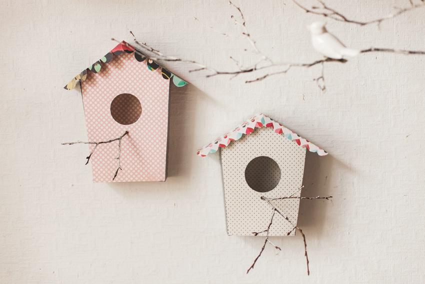 Скворечники из картона можно изготовить вместе с детьми