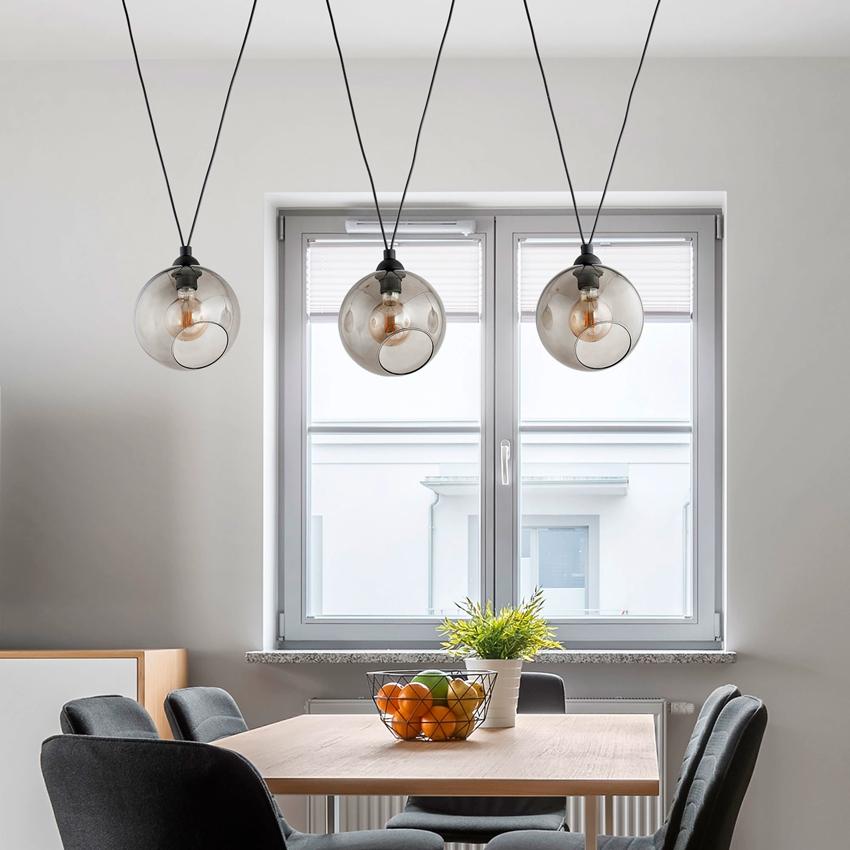 Лаконичные круглые светильники для столовой