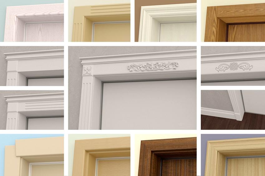 Различные формы дверных наличников
