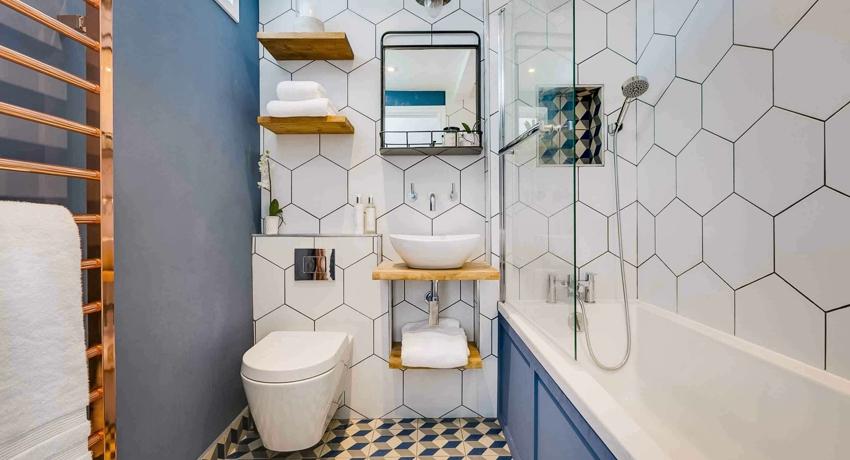 Полки для ванных комнат виды, материалы и стилевое оформление